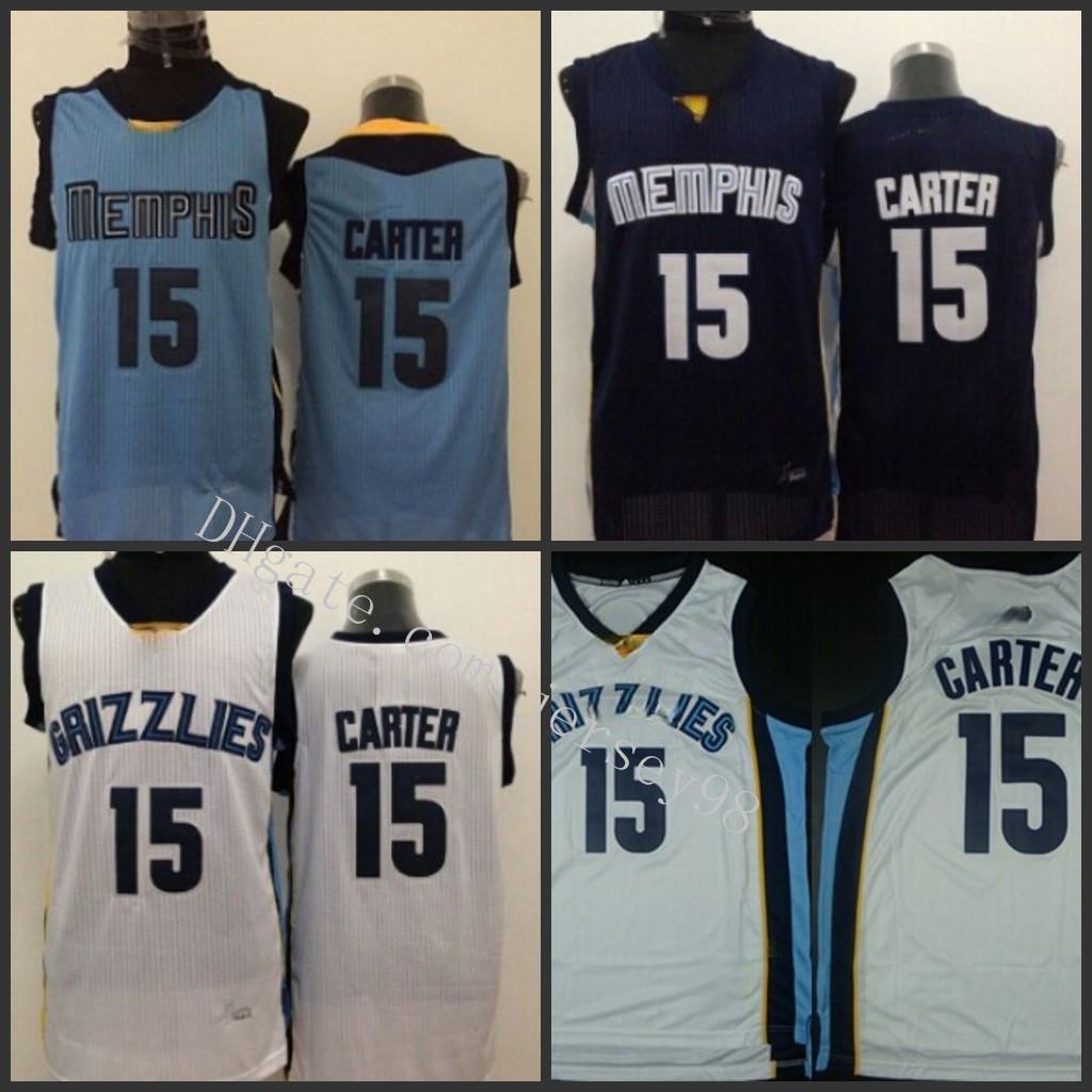 MemphisGrizzliesBlack #15Vince Carter Wright greenNBA men red Jersey
