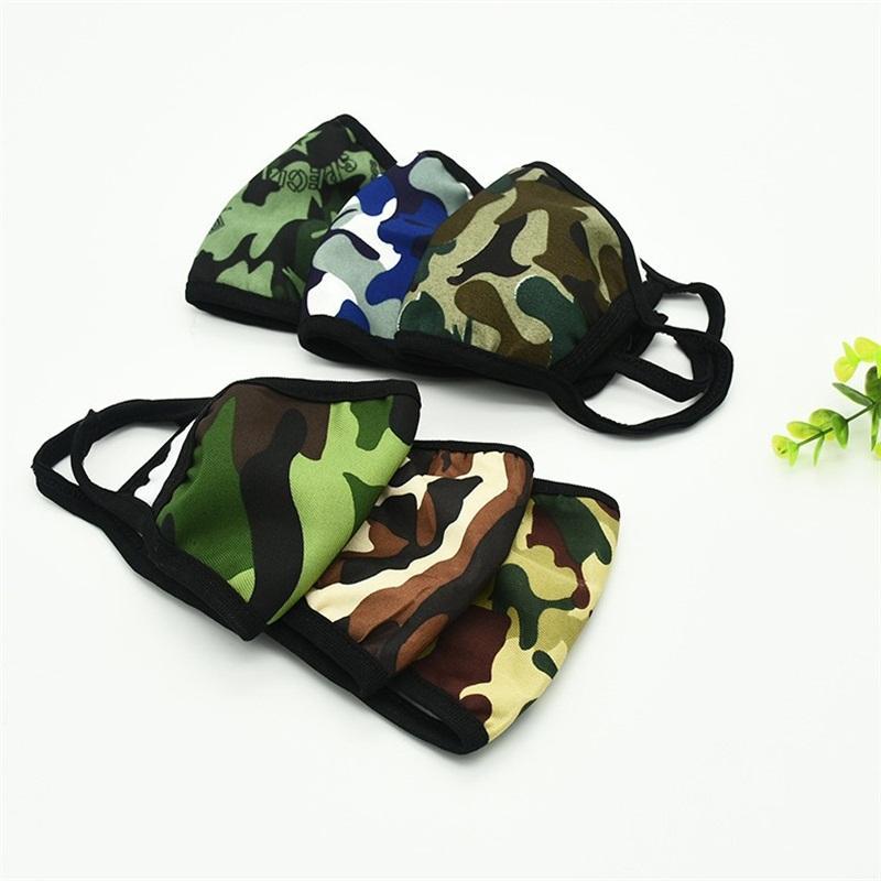 Popular printting Mascherine Boca Máscara camadas duplas Camuflagem Inverno Respiradores Pares frente Poeira máscaras de cor Mix 1RY E1