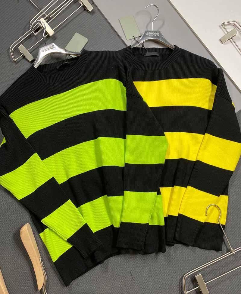 Pulls Hommes Automne Hiver 2020 nouvelles femmes de la mode Lettre Broderie Pull Homme Contraste Casual Couleur Taille Sweat XS-XL