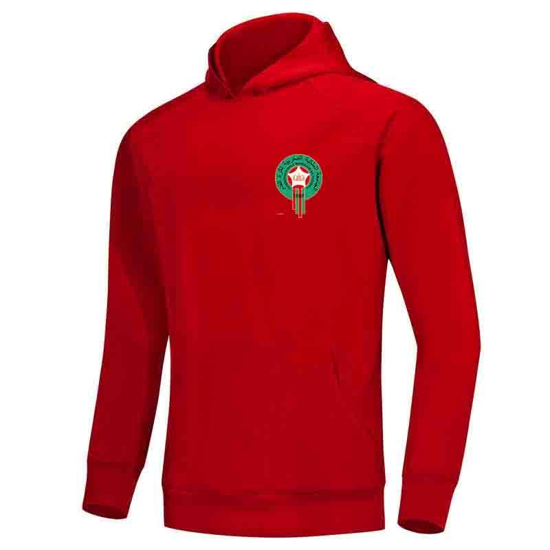 Марокко F.C Мужчины Hoodie свитер Super Soft Printed куртка футбол Fleeces Открытый зимний теплый Весте вскользь Женщины Платья