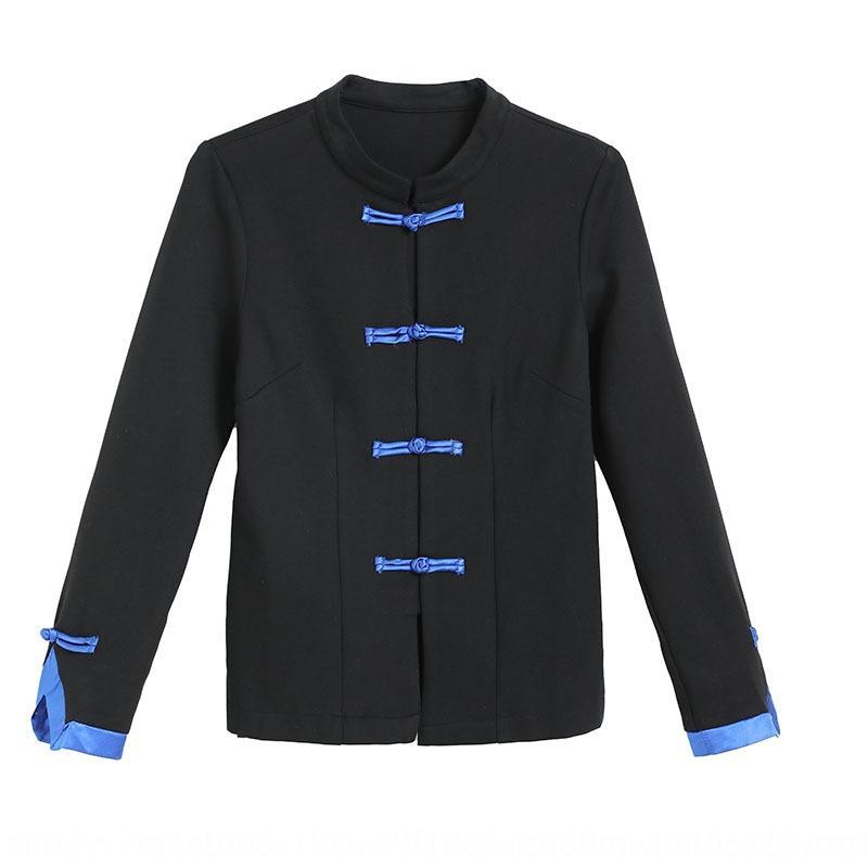 iU1Rp Широкой ножки для женщин pantsSuit осень новой широко нога PmE1 рубашки китайских брюки стиля элегантных случайных 2020 случайных брюк двухсекционного костюма женщины