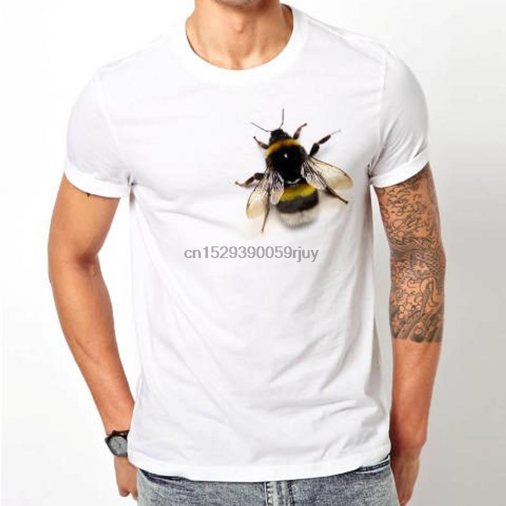 3d Lustig Print Gefälschte Bienen-Honig-Tier-T-Shirt Hemd Unisex T-weiße Farbe