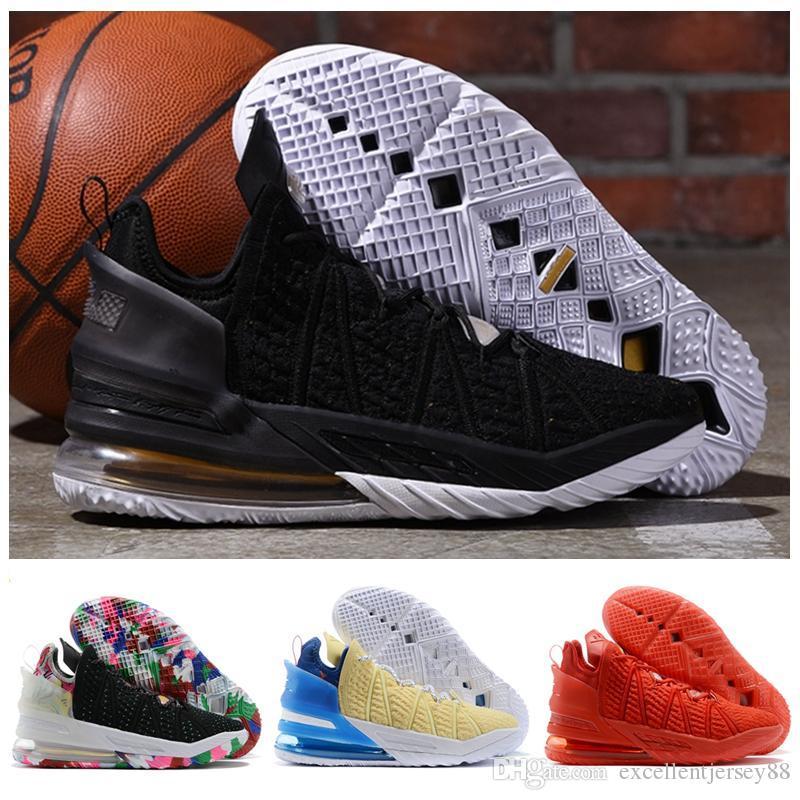 Nouvelle arrivée Roi 18 Hommes Chaussures de basket-18s James Gang rouge entraîneurs des hommes de sport Chaussures de sport taille 40-46