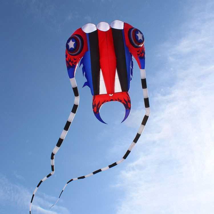 2019 3D 7 m² 1 ligne Stunt Parafoil trilobites Power Sport Cerf-volant extérieur jouet