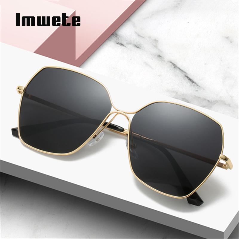 Imwete klassische Sonne Sonnenbrille Sonnenbrille Männer 2020 weibliche Metallbrillen Trending polarisierte Frauen UV400 Fahren Brille Shades CWOIS