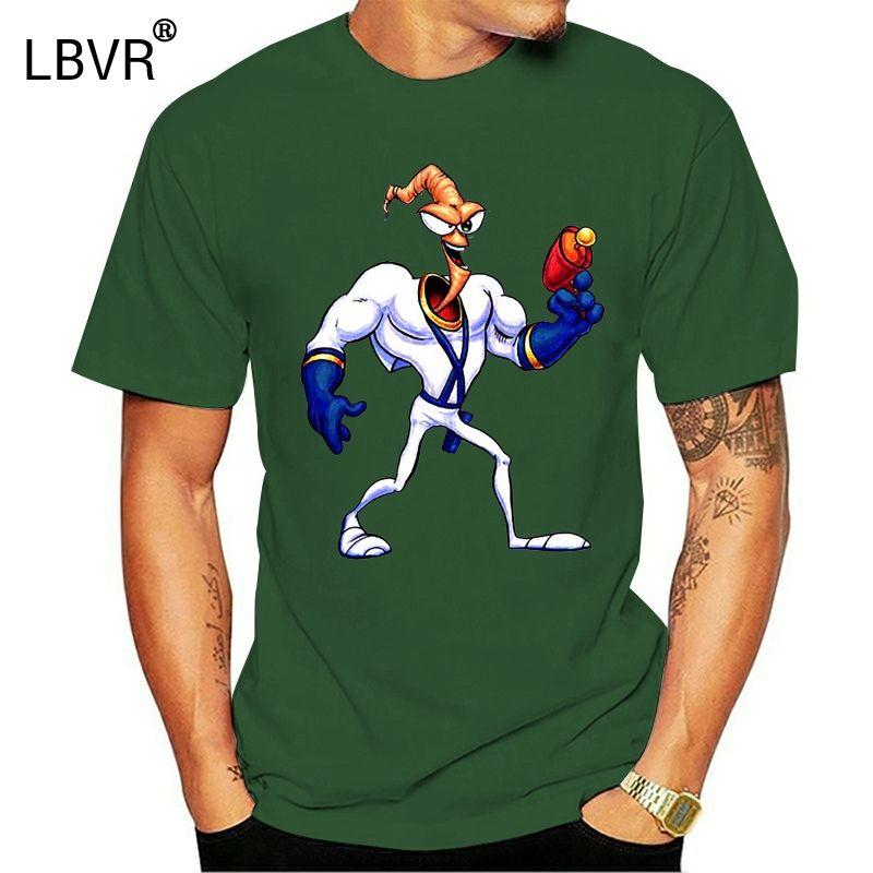Retro Snes juego Earthworm Jim Carácter fan del videojuego camiseta