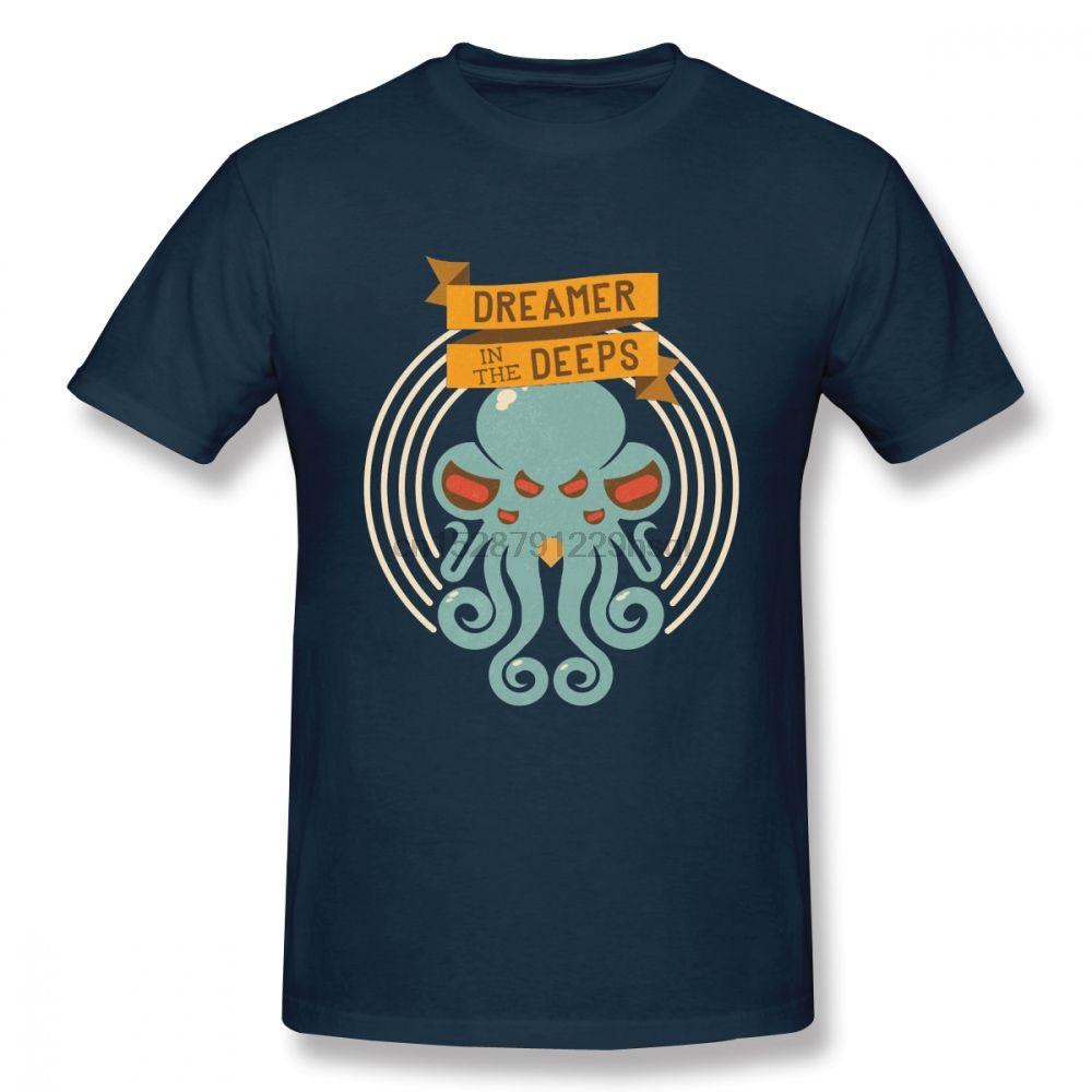 Cthulhu T-shirt pour homme conception unique Nouveau Arrivla Design Top à manches courtes cou Mode ronde à manches courtes