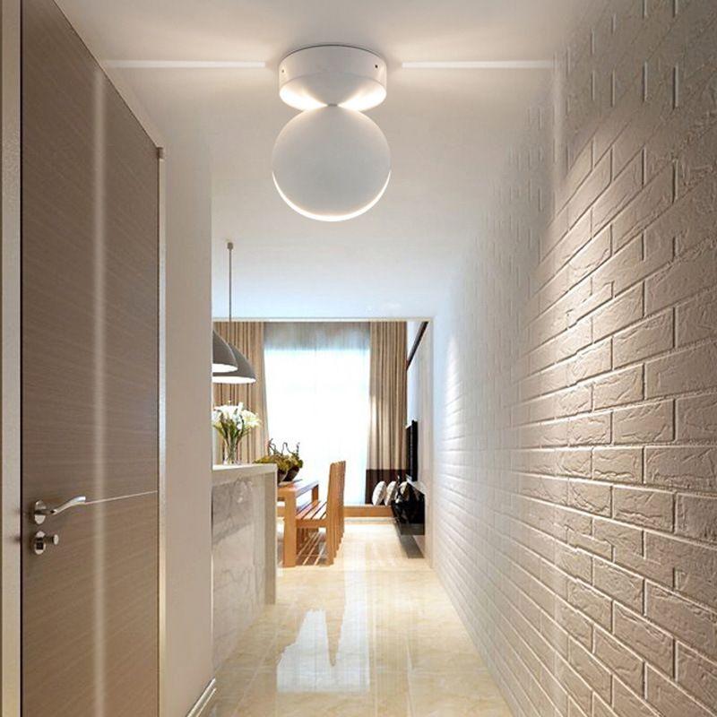 Cgjxs llevada moderna de techo de luz RGB de pared de luz Iluminación de interior Balcón dormitorio KTV hotel de Corredor de montaje en superficie apliques Contro remoto