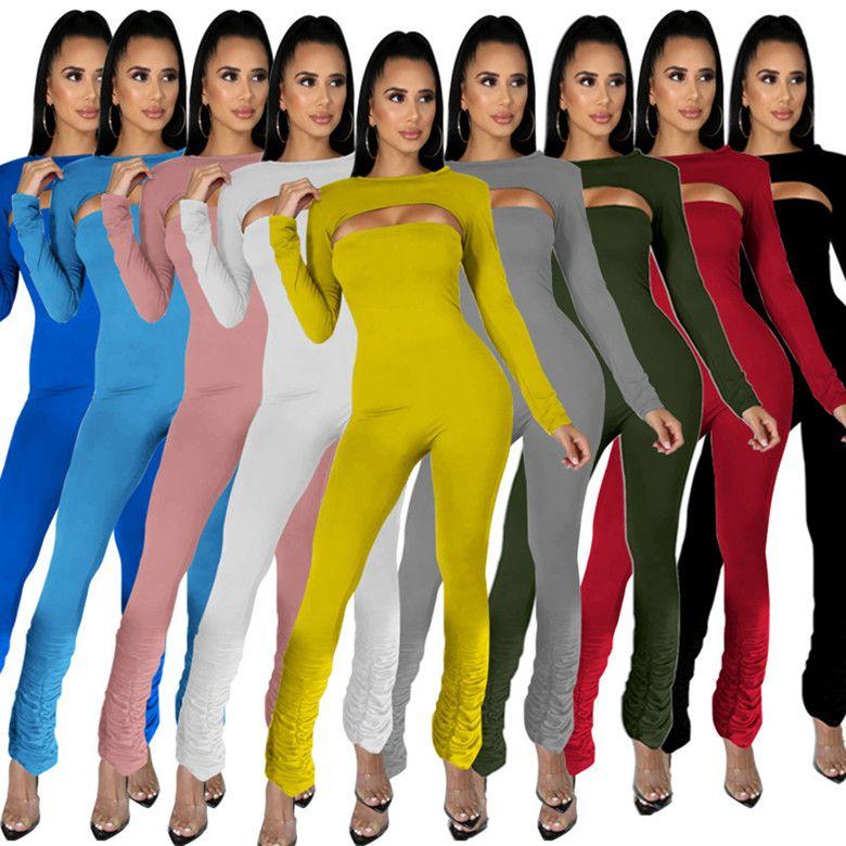 kadınlar tasarımcı tulum uzun kollu tulum seksi tulum zarif moda ince tulum kazak rahat clubwear bayan giyim klw5022