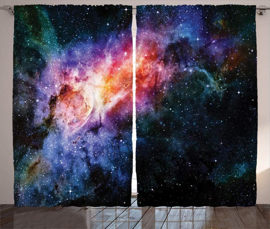 Curtain & Drapes Outer Space Curtains Deep In Starry Nebula And Galaxy The Universe Celestial Living Room Bedroom Window