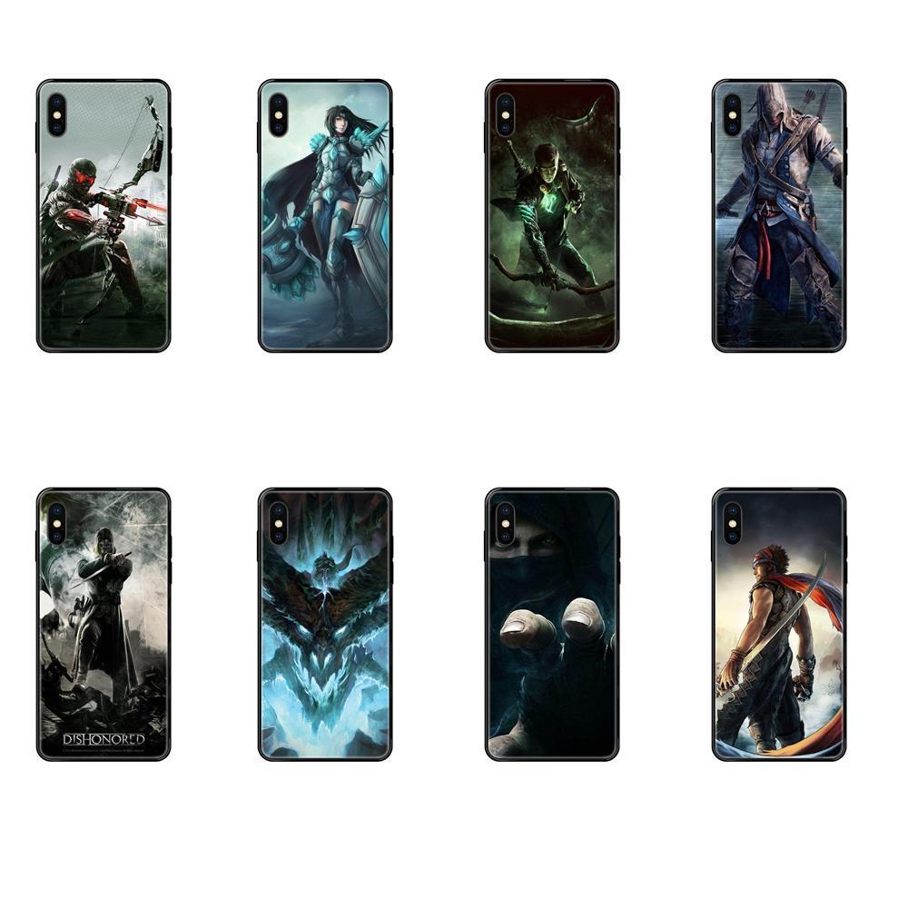 Giochi Dishonored TPU del telefono della copertura di caso per l'iPhone di Apple 11 12 Pro X XR XS MAX 5 5S 5C SE 6 7 8 6S più