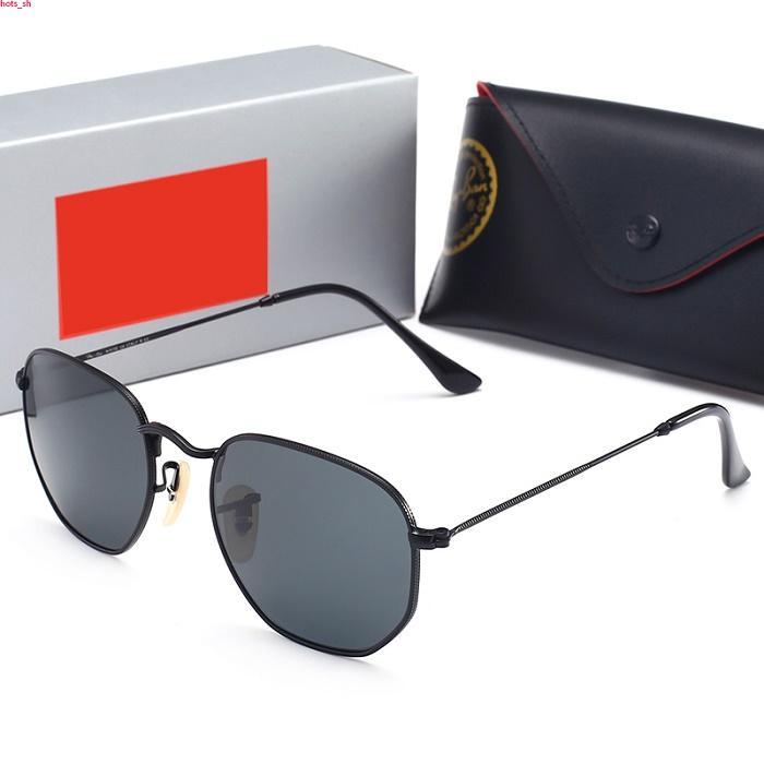 RayBan RB3548 occhiali da sole stile pilota per Uomo Donna telaio in metallo Flash specchio di vetro dell'obiettivo occhiali da sole Occhiali da sole di disegno degli occhiali da