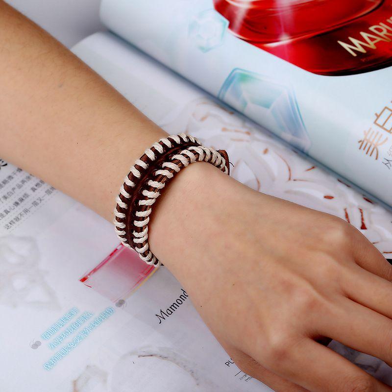Böhmen-Art-Frau Schmuck Persönlichkeit Mode-Leder-Armband Großhandelsweinlese handgemachtes Armband-Stern-Schmuck