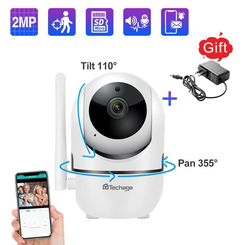 Techage 1080P 720P sécurité Caméras IP sans fil Mini caméra 2 voies audio de son TF Baby Record Moniteur maison de surveillance CCTV
