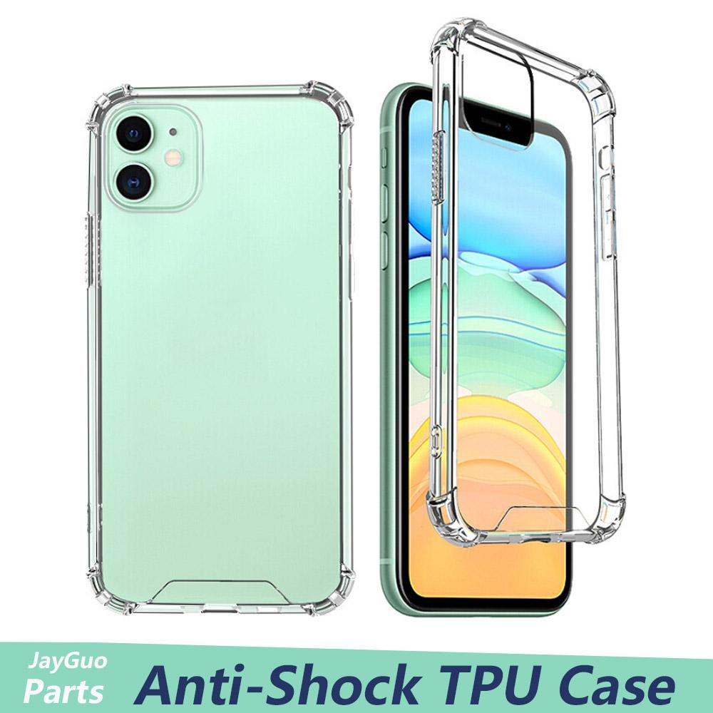 Transparent TPU Phone Case For iPhone 11 Pro MAX XS XR 8 7 Plus Anti-knock Cover for Samsung S20 Protective Shockproof Case Cover