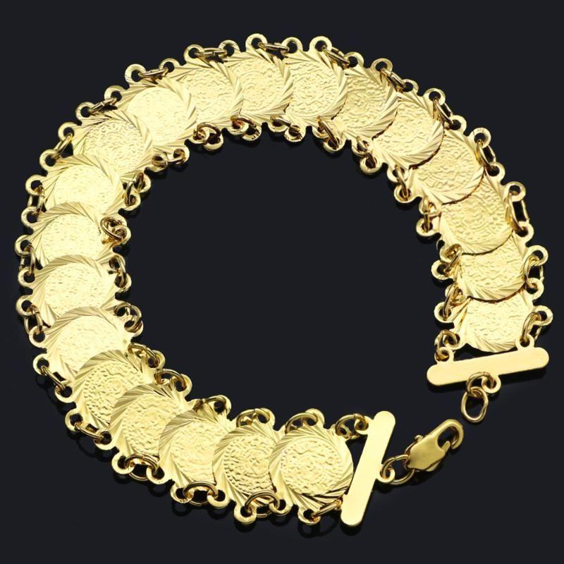 Js & Sth Vintage Coin Charm Bracelets Women Punk Luxury Boho Gold Color Bracelet Femme Friends