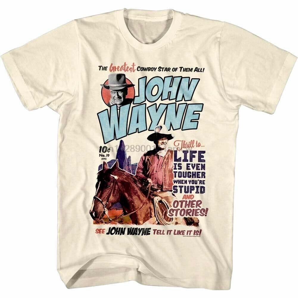 John Wayne plus grand T-shirt de Cowboy Star Men Comic Legend héros américain Western