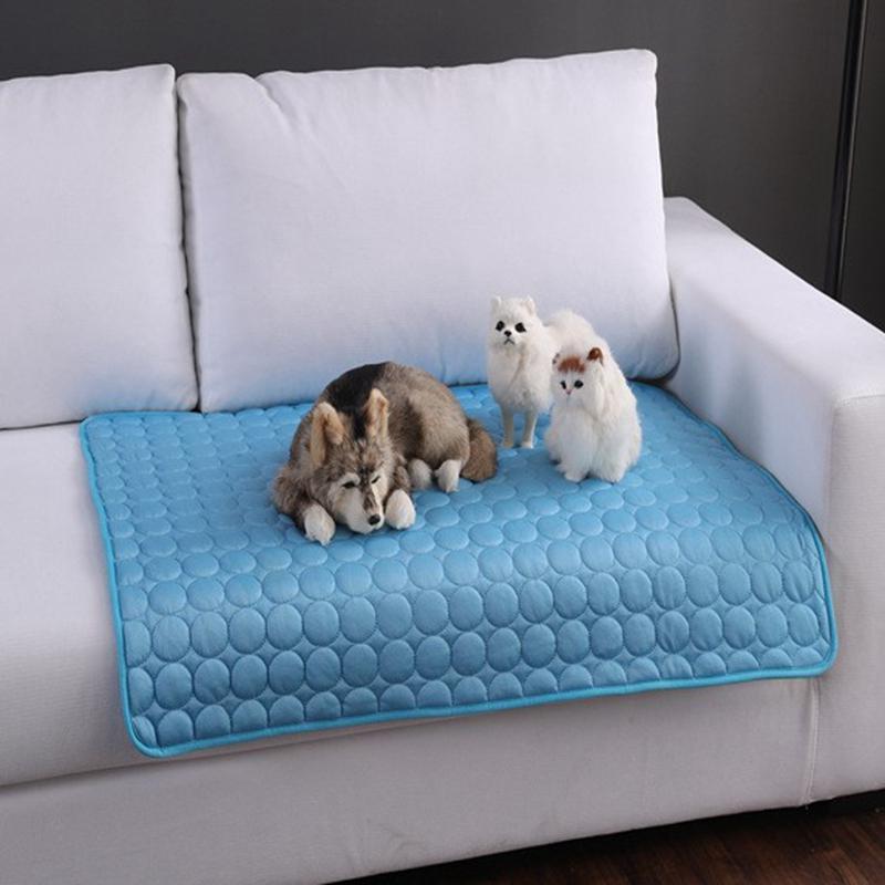Matera de enfriamiento de verano camas para mascotas para perros gato manta sofá transpirable mascota cama de perro lavable para pequeños perros grandes dropshipping