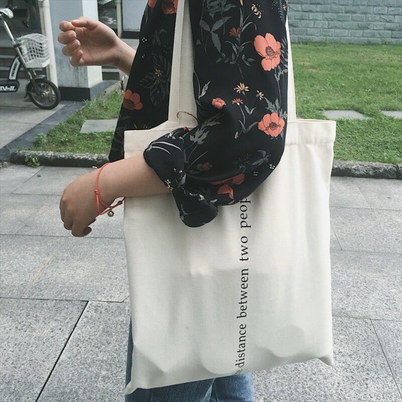 Женской Холст Сумка Сумка Письмо печать Хлопок Tote сумки Повседневной Ткань Сумка для девочки Ladies Shopper Сумка
