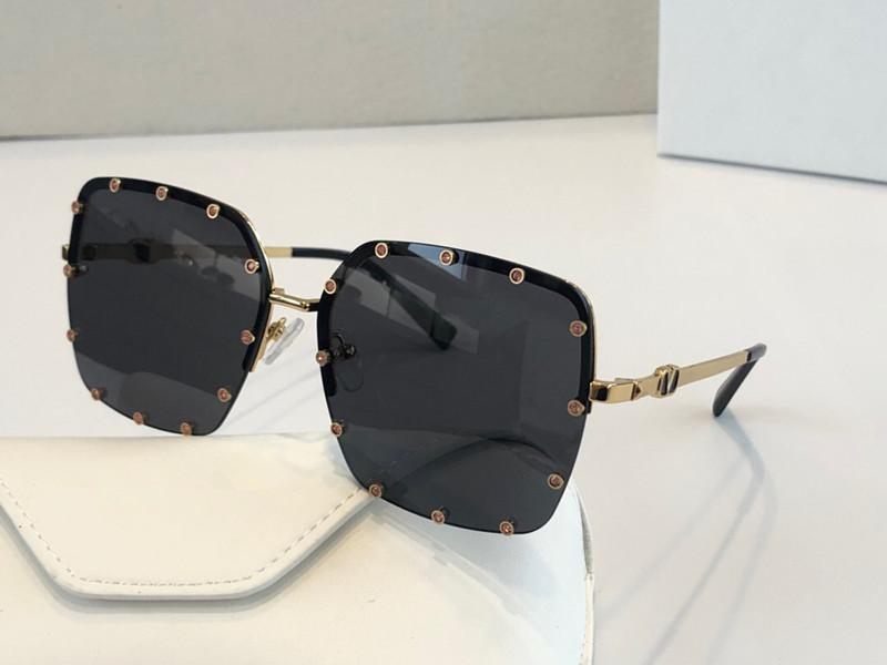 2038 Sunlgasses جديدة فاخر مصمم النظارات الشمسية موضة VLTN نساء العلامة التجارية الإطار ريترو ستايل حماية UV400 عين القط مجانية تأتي مع القضية