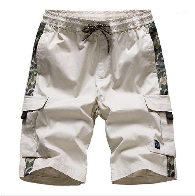 2020 Lüks Tasarımcı Pantolon Erkekler Spor Casual Plaj Kargo Şort Gevşek Diz Boyu Pantolon Yaz Erkek
