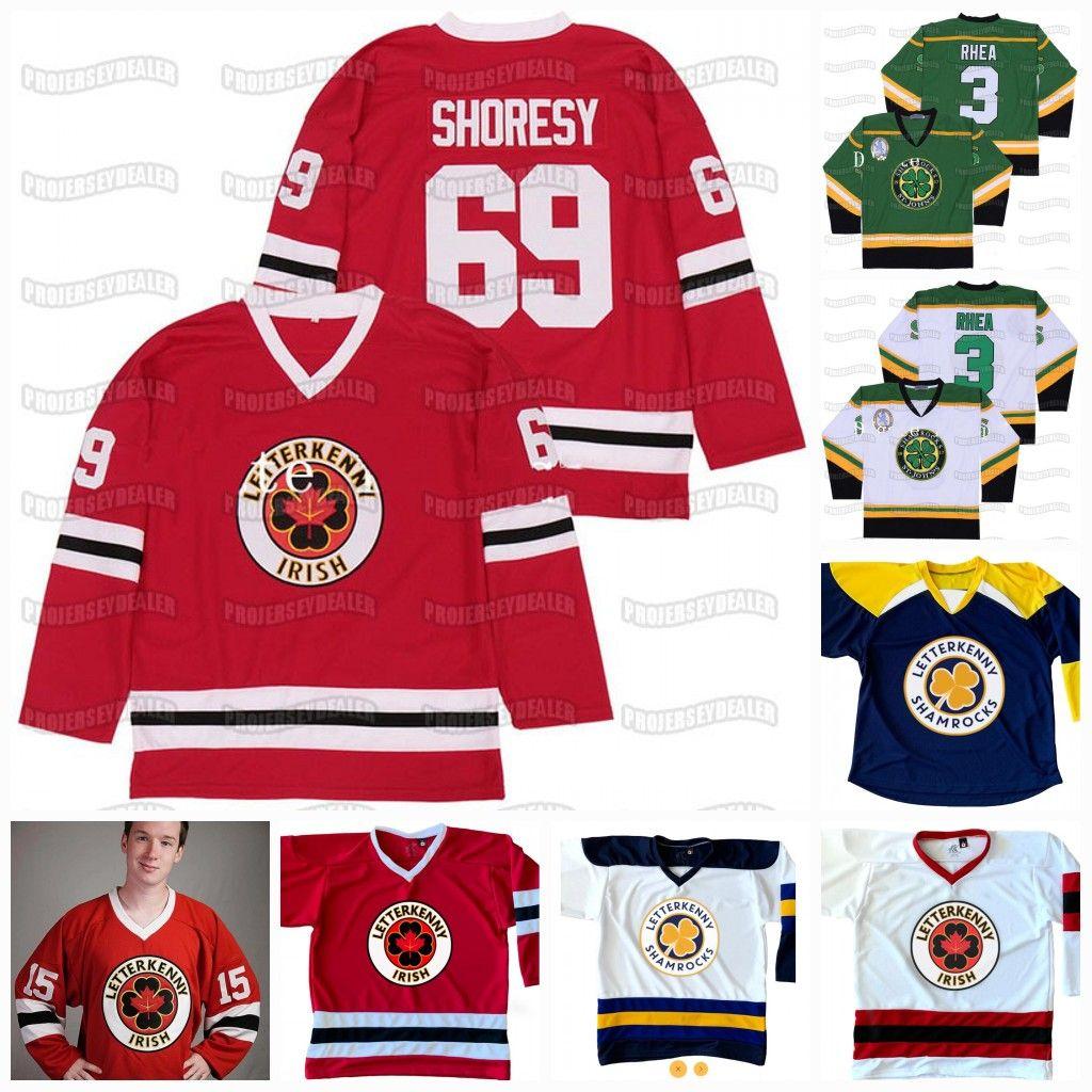 69 Shoresy letrakenny Irish TV Series The Boss Rhea Goon Película San Juan Shamrocks 68 Reilly 74 Jonesy 15 Powell Jersey