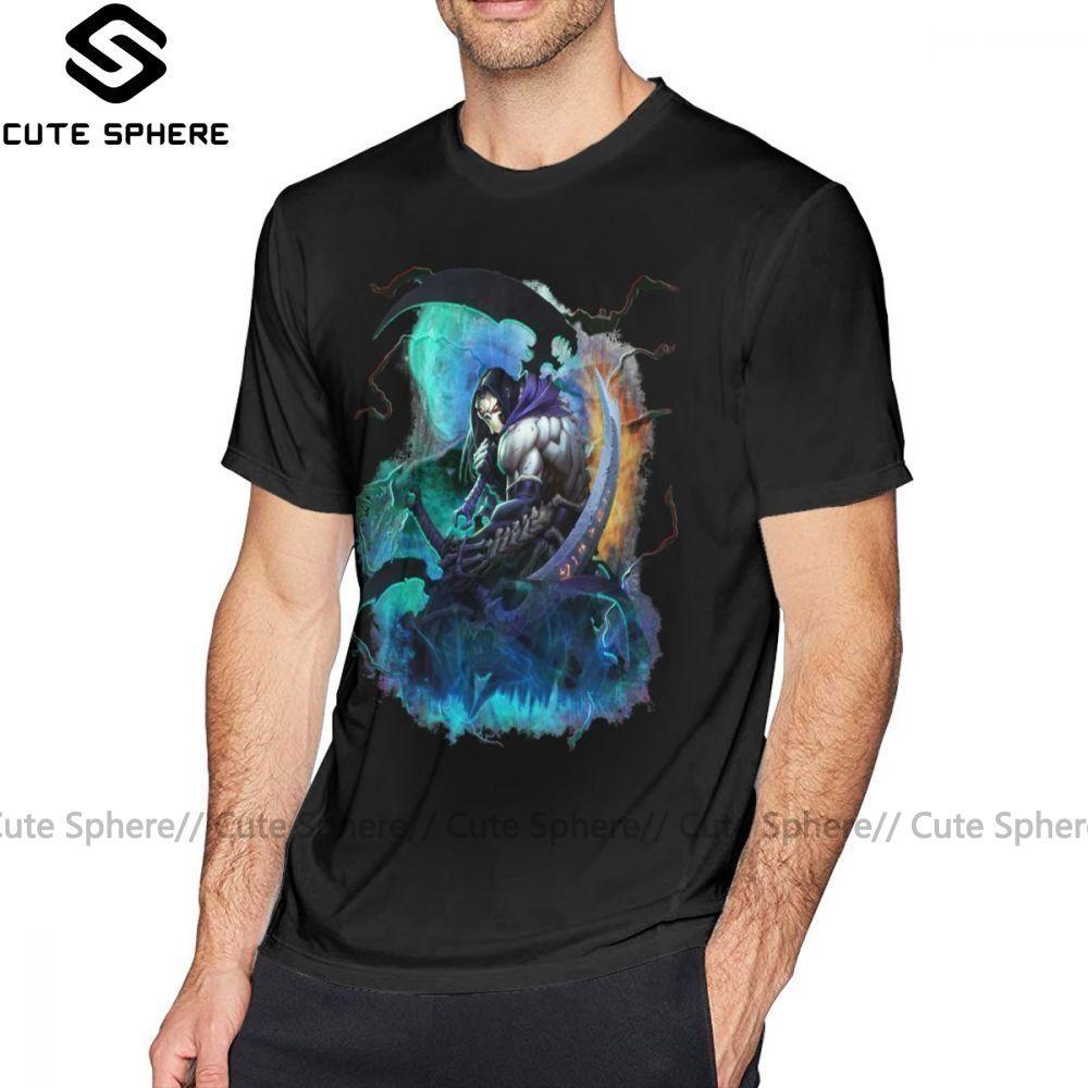 Darksiders T-shirt 2 Darksiders T-shirt homme imprimé T-shirt drôle manches courtes Taille Plus 100 T-shirt Coton Casual