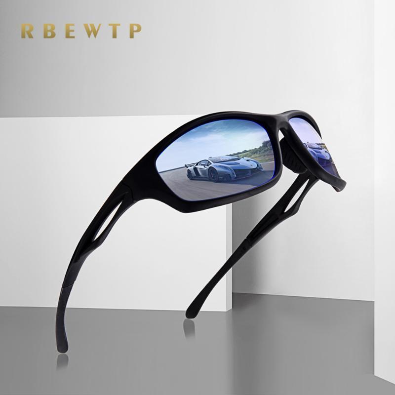 RBEWTP Frame Sunglasses Men UV400 Mirror For Goggle Light Coating Driving Night Vision Glasses Polarized Enhanced Mens/Women Nbrbq