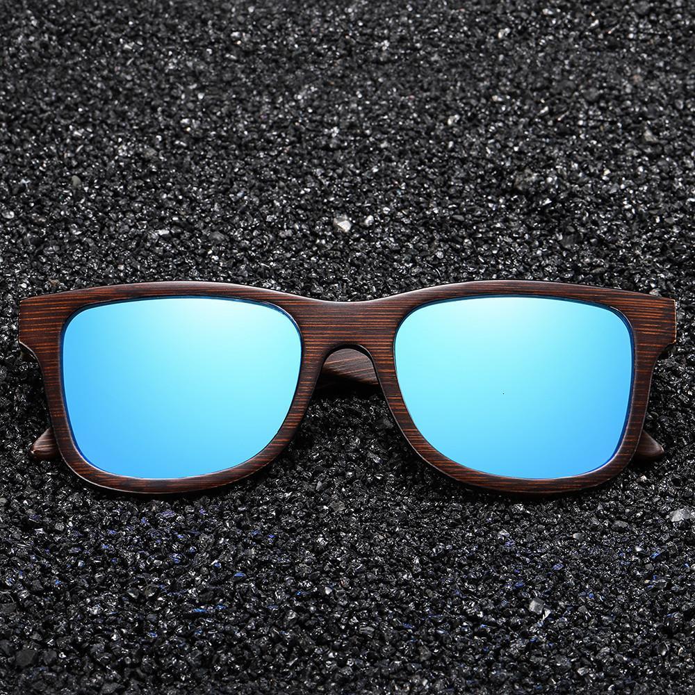 Holz Ezreal Handgemachte natürliche Brown Sonnenbrille Frauen Männer Brand Design Vintage Mode-Gläser polarisierte Linse Drop Ch01