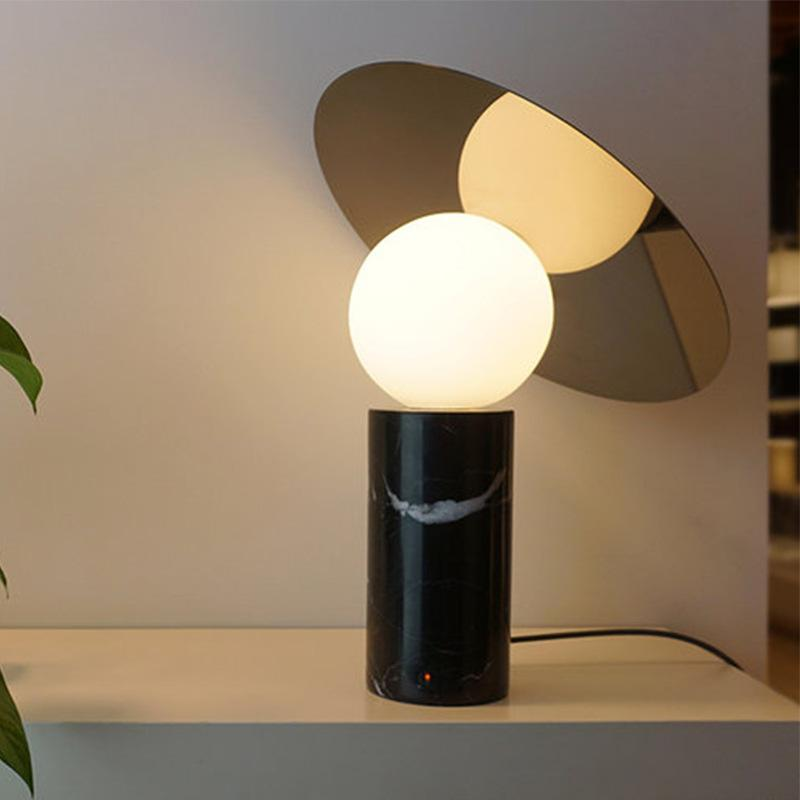 современная мраморный стол лампа LED стол настольной лампы светого стекла тень мрамор основа нового дизайн дизайнер освещение