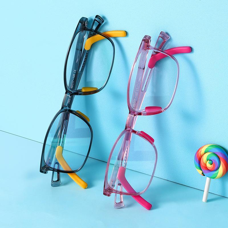Óculos Quadrado Luz Bloqueio Juventude Azul Anti Computador Azul Juniores Óculos Óculos Óculos 2020 Luz Prescrição TR90 PVQDA