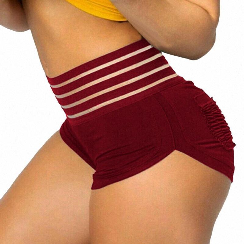 Frauen-hohe Taillen-feste Peach Hip Shorts Hip Yoga Hose Fitness Laufen Ydxf #