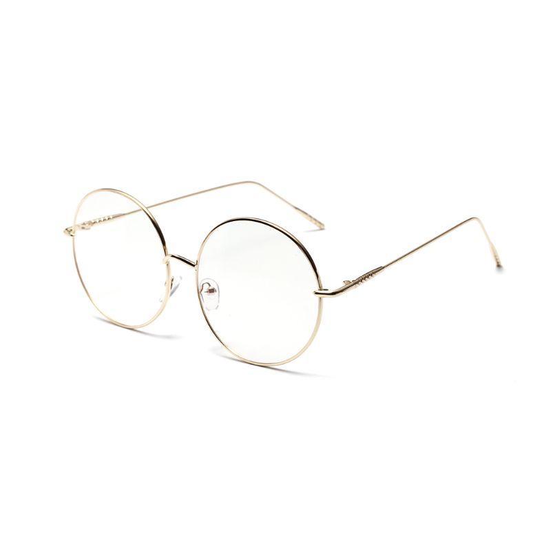 Quadro 1 par Rodada Full Metal Óculos de metal fino-Quadro das senhoras Óculos acessórios decorativos