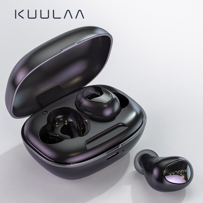 KUULAA Bluetooth Kopfhörer Drahtlose Kopfhörer Bluetooth 5.0 Gaming Headset freihändig Blutooth-Kopfhörer In-Ohr-Sports