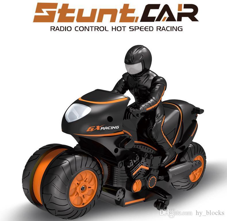 Steuerung Kinder Auto Klettern Elektrische Fernbedienung 2.4G Motor 360 Motorrad rotierender Motor Motorrad High Drift Toys Geschwindigkeit RC Kid Mini Cvupm