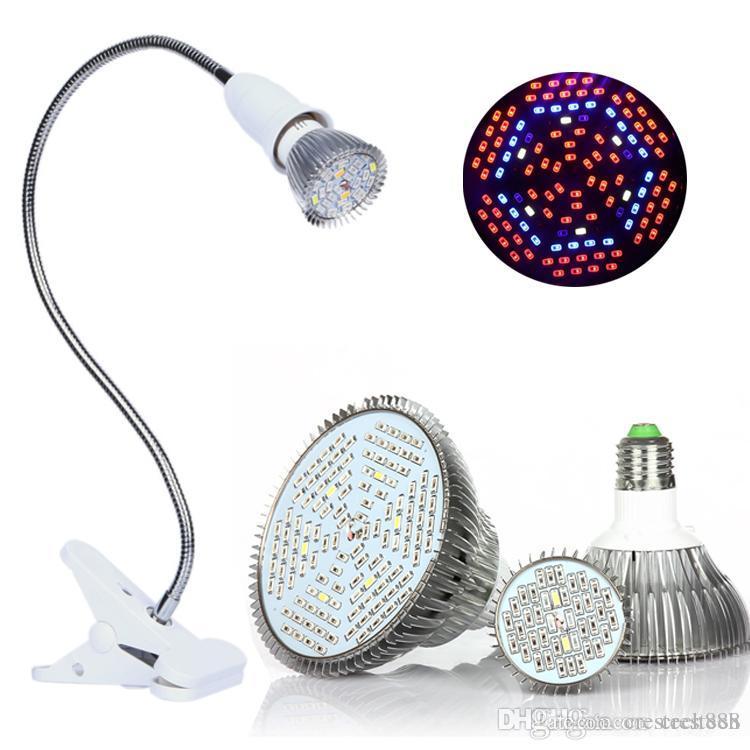 Full Spectrum LED crece las bombillas de 18W 30W 50W 80W LED crece luces interiores sistemas hidropónicos Las plantas de la lámpara para la floración y crecimiento