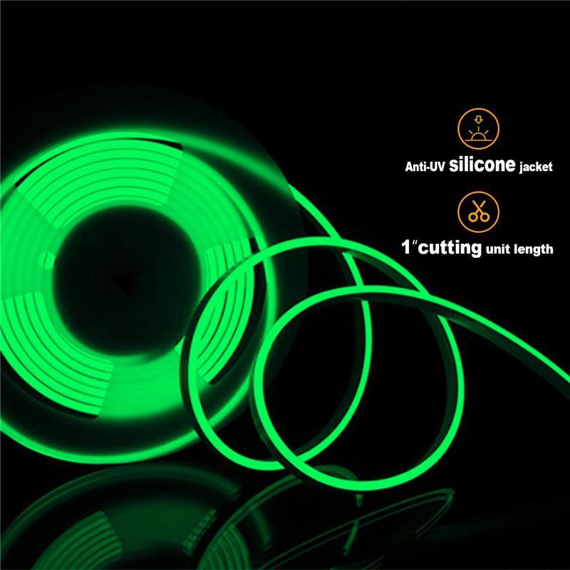 AC110 AC220V Smd2835 Led Neon Flex luci di striscia di 12W LED corda al neon 90leds luce 120leds 50m ha condotto la luce al neon di decorazione di Natale
