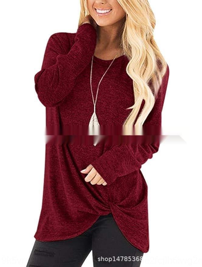 Automne et d'hiver à manches longues pour femmes rondes Sweatert-shirt sweatercollar Kink chandail à manches longues automne et des femmes d'hiver rond Top Sweate