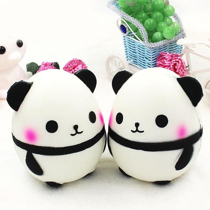 15cm Children slow rebound squishy new product cartoon panda toy simulation PU super giant panda egg doll decompression toy