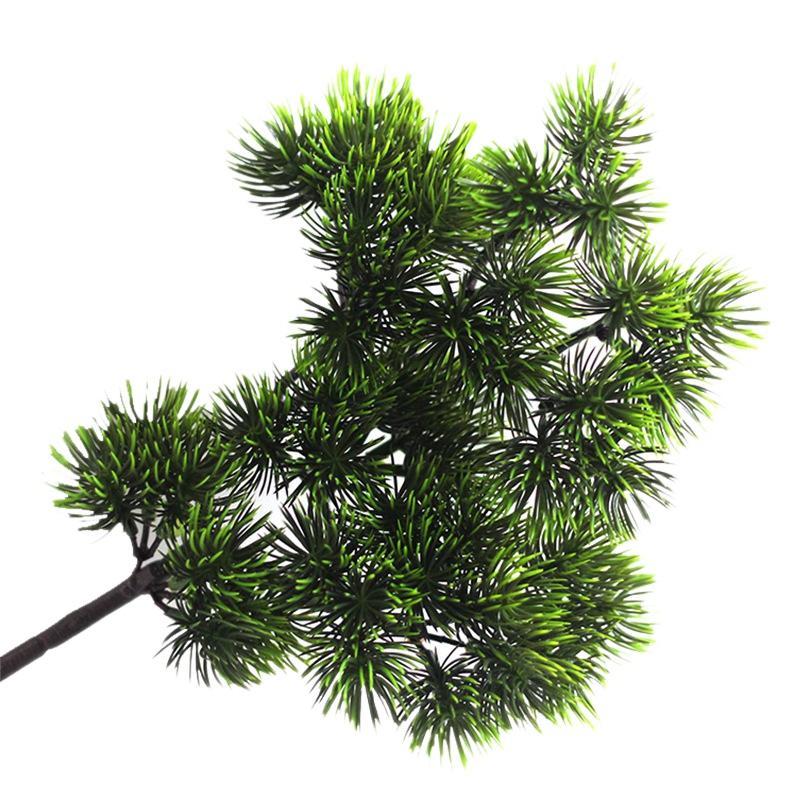 Las ramas de pino artificial 10pcs, bricolaje Accesorios artificiales Verdor Bush Faux Arbustos de mesa Centros de mesa Arreglos