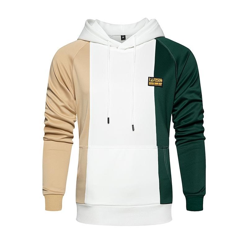 2020 New Fashion Patchwork Hoodies Men Plus Size Autumn Winter Men's Hooded Sweatshirts Male Streetwear Fleece Casual Hoodies T200917