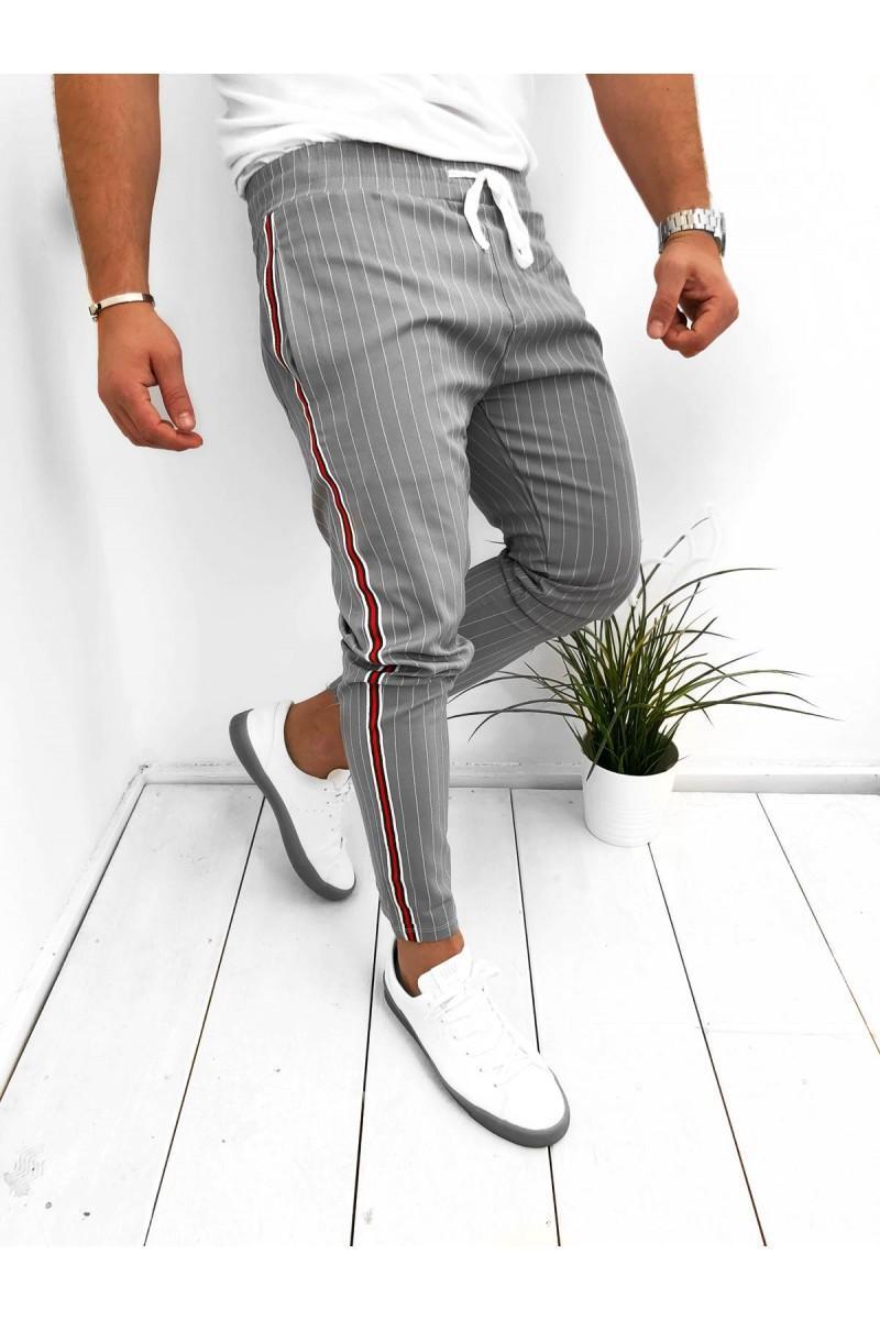 Мужские брюки Мода 2020 Полосатый брюки высокого качества Jogger Sweatpants Новые прибытия резвятся штаны 3 цвета Бесплатная доставка