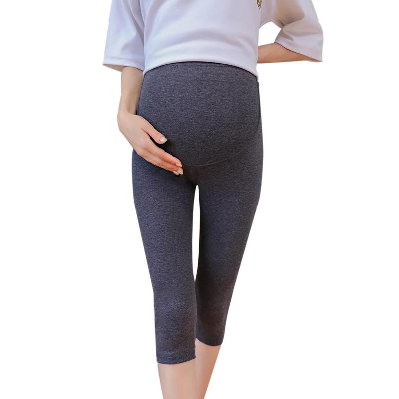 032 # 7/10 Uzunluk Ince Modal Sıska Annelik Legging Yaz Sıcak Ince Elastik Bel Hamile Kadınlar için Legging Hamilelik
