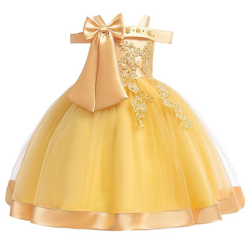 Big bow tutu Dress for Girls Wedding Beading Flower Girls Dress Princess Party Pageant Formal Dress Prom for Baby Girl Birthday
