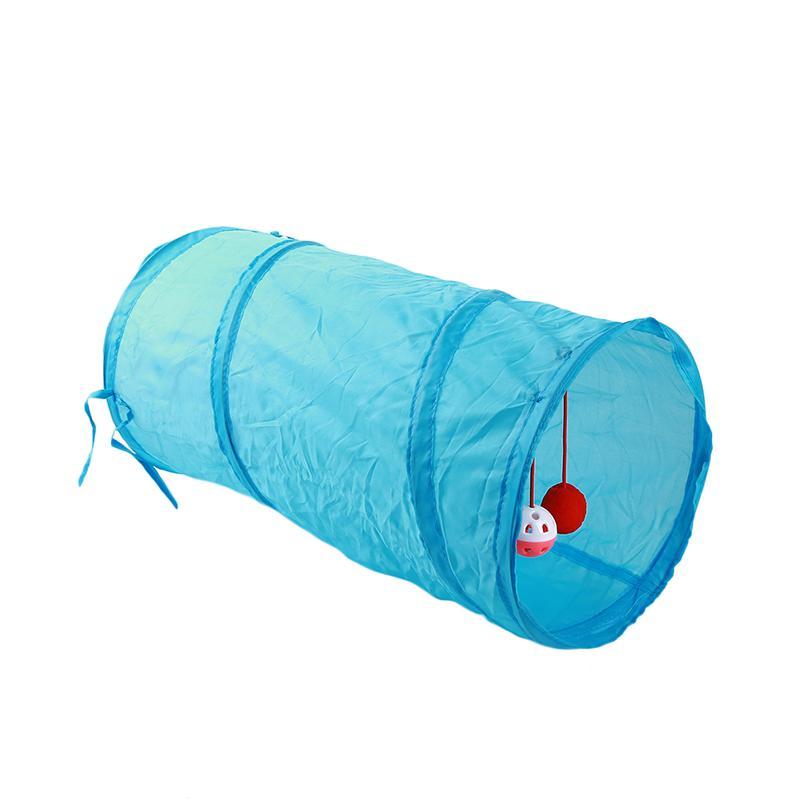 Cat Nest Pet Dog Cat Tenda della fossa di scolo Tunnel Tenda nido morbido pieghevole materassini Pad Cloth piccola base del cane cucciolo Casa