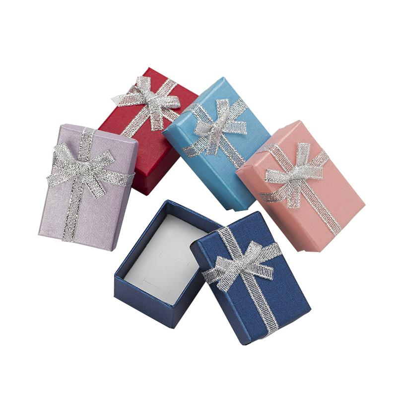 4x6cm Jewelry Boxes Pealr Paper Gift Boxes for Jewellery Packaging Display Earring Necklace Pendant Ring Box with White Sponge T200917