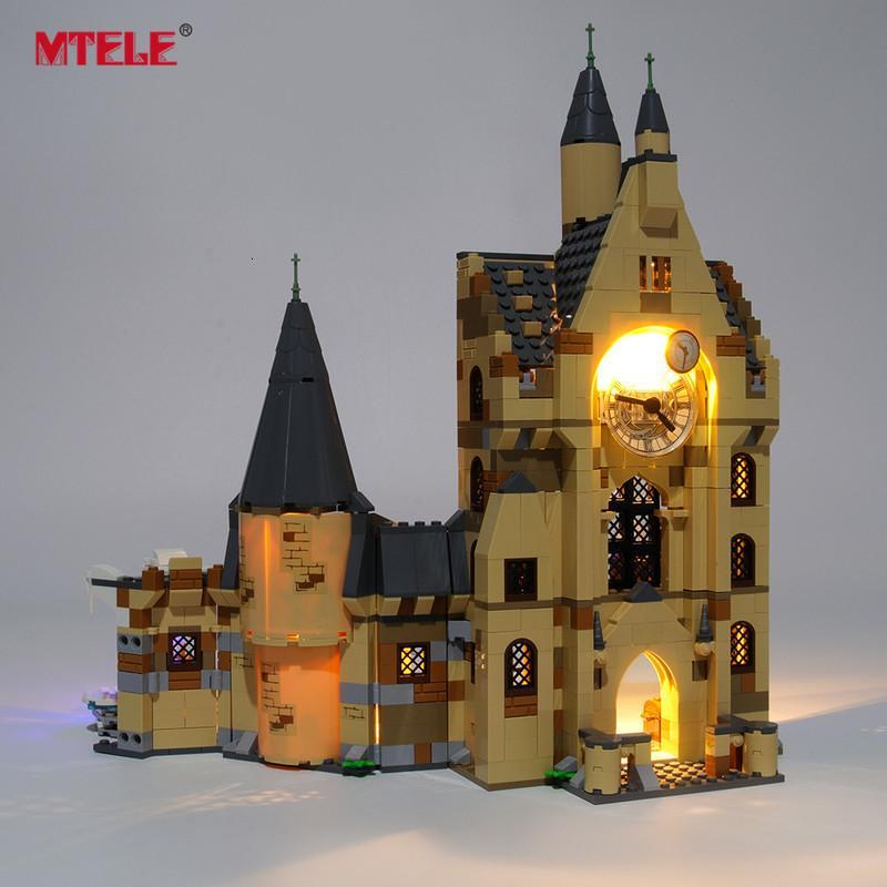 Kit d'éclairage LED de marque MTele pour l'éclairage de tours d'horloge de Poudlard Compatible avec 75948 (ne pas inclure le modèle)