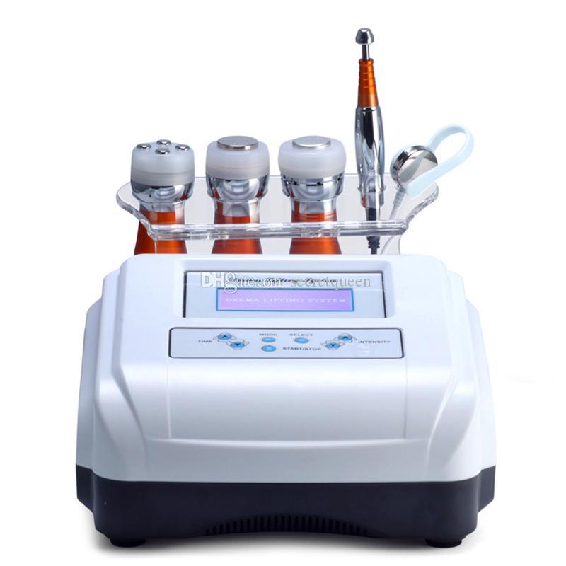 5 en 1 électroporation Anti-âge RF Machine de beauté LED Beauté appareil Lifting peau de refroidissement Resserrer yeux Soins de la peau outil DHL Livraison gratuite