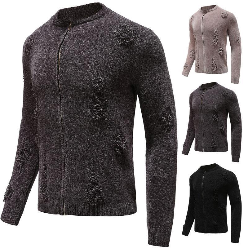 Мужские свитера 2021 одежда осень зима дизайн свитер стиль мода вязаный кардиган