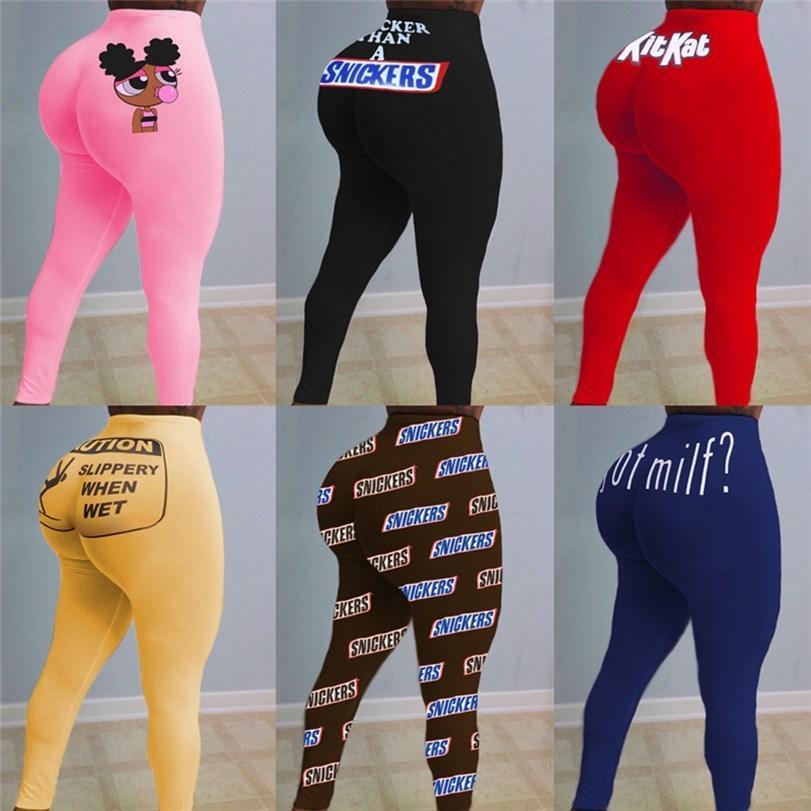 Frauen Yoga S-2XL One Piece Leggings Brief Drucken Mode Designer Fall Winter Casual Kleidung Mode Bodycon Hosen Skinny Capris DHL